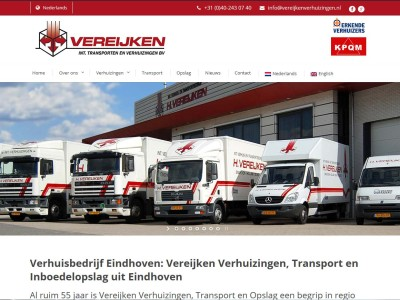 Website Vereijken Verhuizingen Transport en Opslag Eindhoven